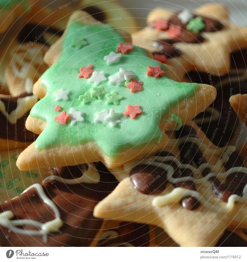 Gruppenkuscheln Weihnachten & Advent fertig fremd Schokolade Geschmackssinn lecker Ernährung Süßwaren Zucker Backwaren Ecke eckig Zacken Kalorie Fett süß