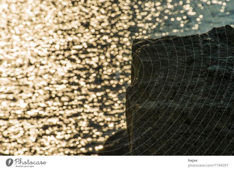 Sonnenaufgang an der Ostsee in Ustka, Polen Natur Ferien & Urlaub & Reisen Meer Küste Stein Freizeit & Hobby Idylle Brandung Buhne Mole Monochrom