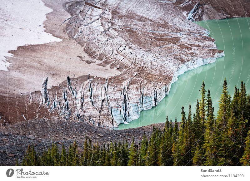 Mount Edith Cavell Gletscher Ferien & Urlaub & Reisen Tourismus Berge u. Gebirge wandern Umwelt Natur Landschaft Urelemente Wasser Erde Sommer Klima Klimawandel