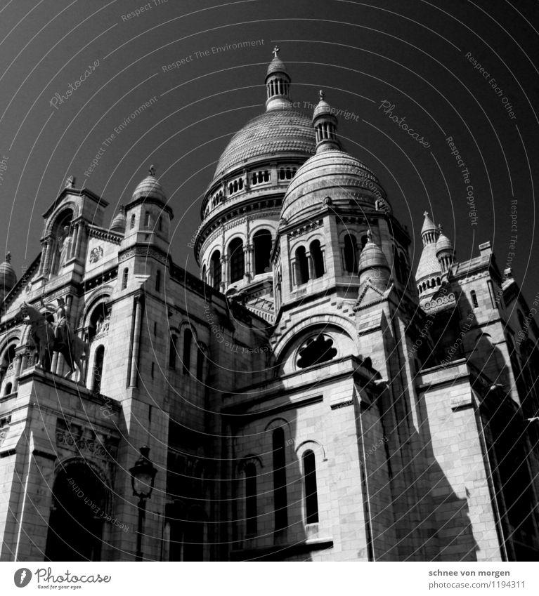 Stein Architektur Paris Stadt Hauptstadt Altstadt Kirche Dom Burg oder Schloss Platz Mauer Wand Fassade Dach Sehenswürdigkeit Wahrzeichen Denkmal Sacré-Coeur