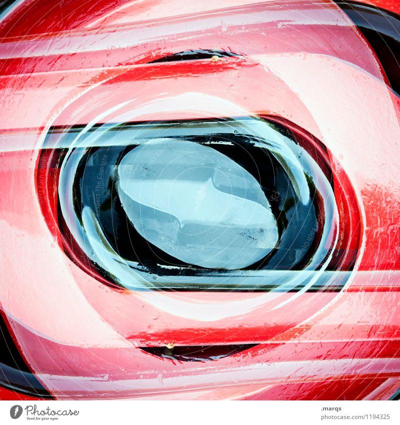Auge Farbe rot schwarz Stil außergewöhnlich Design Ordnung elegant ästhetisch Perspektive rund Coolness Kunststoff Surrealismus Symmetrie