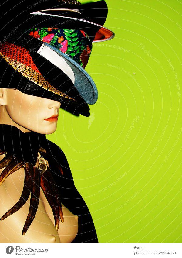 … drüber … Lifestyle Reichtum elegant Mensch feminin Frau Erwachsene Gesicht Brust Frauenbrust 1 18-30 Jahre Jugendliche Kunst Schmuck Schal Hut Mütze Glatze