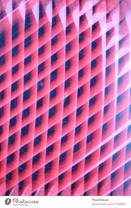 Gitter Lifestyle Stil Design Feste & Feiern Industrie Kunst Sieb Stahl Linie leuchten Aggression eckig rot Gefühle bizarr Nostalgie Gitterrost Farbfoto