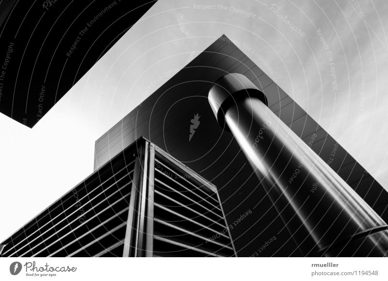 Cubes Innsbruck Österreich Stadt Gebäude Architektur Arbeit & Erwerbstätigkeit atmen glänzend Sauberkeit schwarz weiß Erfolg Kraft Mut modern Weitwinkel