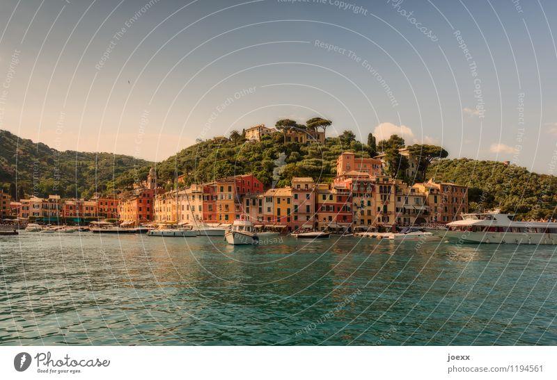 Portofino Himmel Ferien & Urlaub & Reisen alt schön Sommer Wasser Landschaft Haus Wald Berge u. Gebirge Fassade Italien Schönes Wetter historisch Dorf