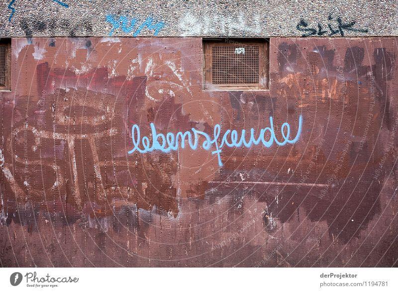 Textbildschere: Lebensfreude Ferien & Urlaub & Reisen Wand Traurigkeit Graffiti Gefühle Berlin Mauer Tod Freiheit Tourismus Kraft trist Erfolg Ausflug Abenteuer