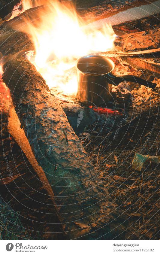 Feuer in der Natur. Ferien & Urlaub & Reisen Mann Sommer Landschaft dunkel Wald Erwachsene Umwelt natürlich Freizeit & Hobby wild Tourismus wandern