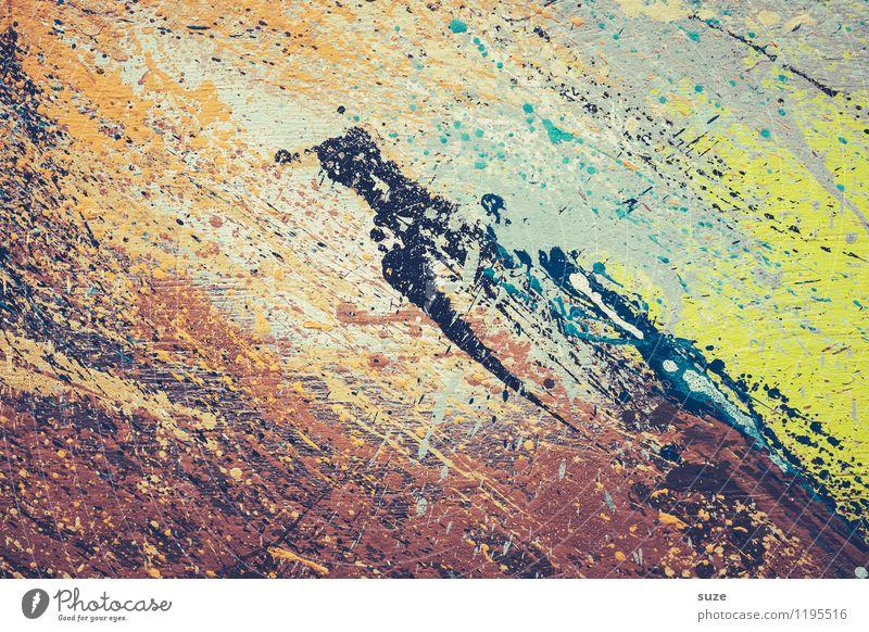 Sturm und Drang Farbe Stil Hintergrundbild außergewöhnlich Kunst wild Design modern verrückt ästhetisch Kreativität Idee einzigartig malen Grafik u. Illustration streichen