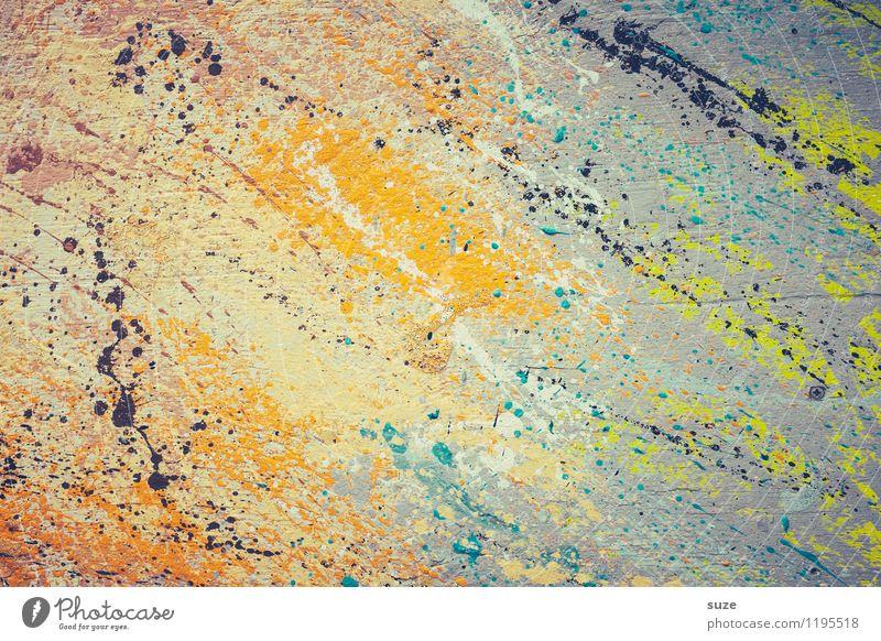Halb so wild. Stil Design Kunst Kunstwerk Gemälde streichen ästhetisch außergewöhnlich einzigartig modern verrückt Toleranz chaotisch Farbe Idee innovativ