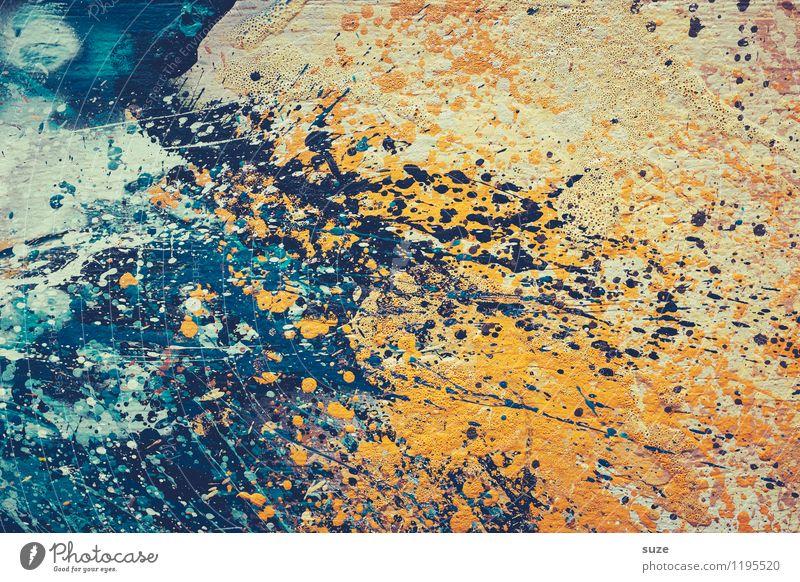 Nur keine Panik! Farbe Stil Hintergrundbild außergewöhnlich Kunst Design wild modern verrückt ästhetisch Kreativität Idee einzigartig malen Grafik u. Illustration streichen