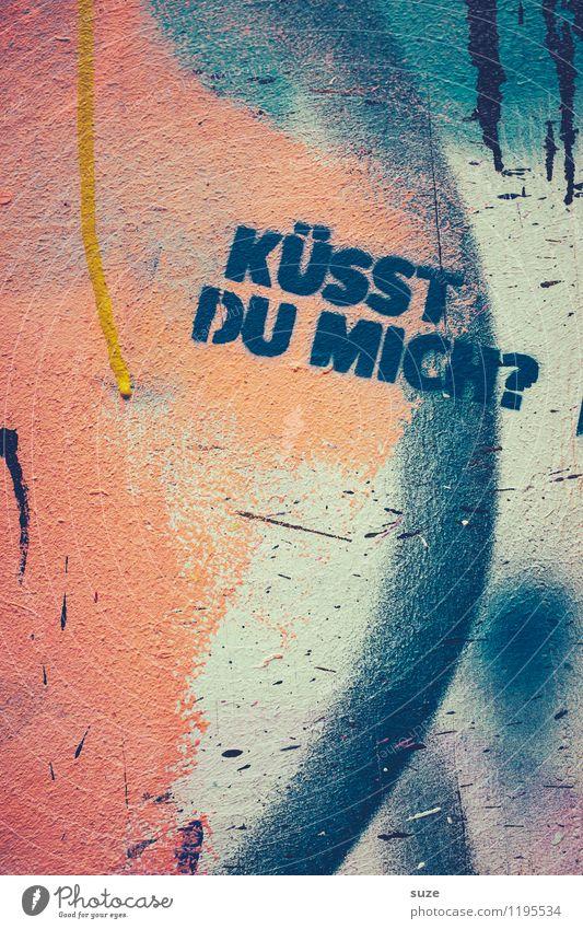Der Frosch ... Wand Liebe Gefühle Graffiti Stil Mauer Lifestyle Fassade Design authentisch Schriftzeichen verrückt Kreativität Lebensfreude Grafik u. Illustration Buchstaben