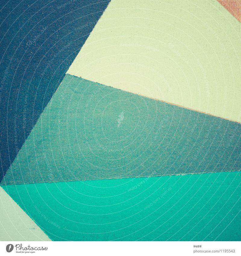 Große Anteilnahme Farbe kalt Stil Hintergrundbild Kunst Lifestyle Linie Design Freizeit & Hobby Ordnung Dekoration & Verzierung modern ästhetisch Kreativität Spitze einfach