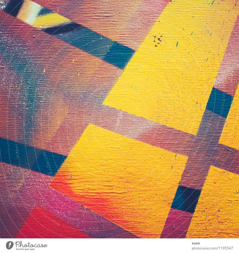 Freistil | Elektro Farbe Wand Stil Mauer Hintergrundbild Lifestyle Kunst Design Ordnung modern ästhetisch Kreativität einfach einzigartig malen