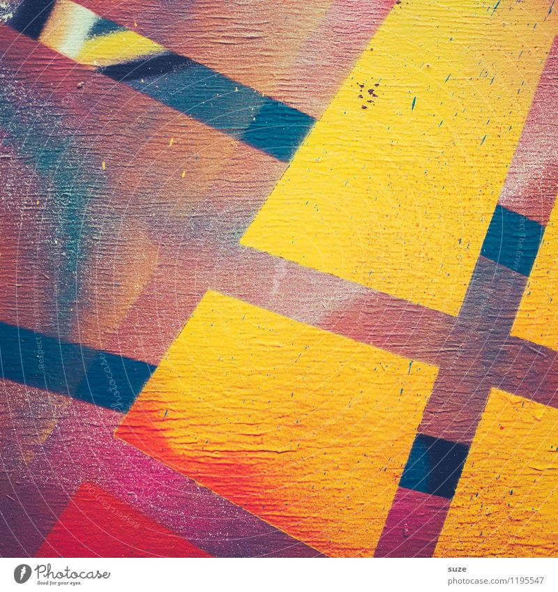 Freistil | Elektro Lifestyle Stil Design Kunst Kunstwerk Gemälde Mauer Wand ästhetisch eckig einfach einzigartig modern Toleranz Farbe innovativ Inspiration