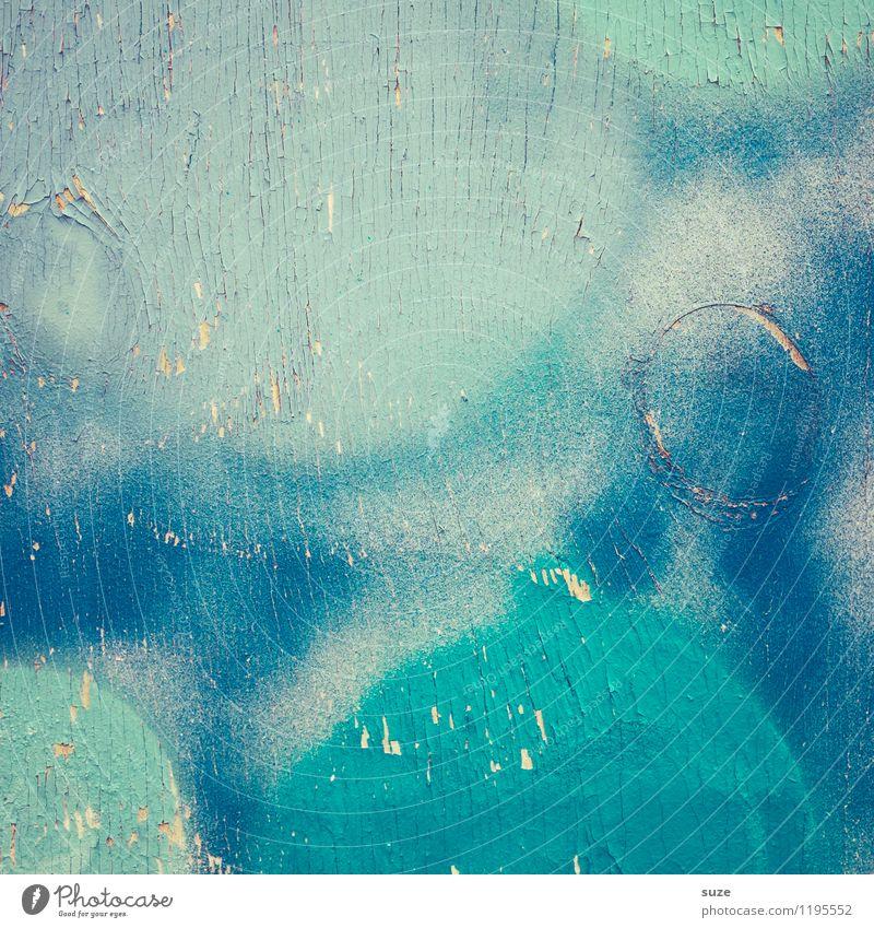 Freistil | Blues alt blau Farbe Wand Farbstoff Stil Mauer Hintergrundbild Holz Kunst Design wild verrückt Kreativität einfach einzigartig