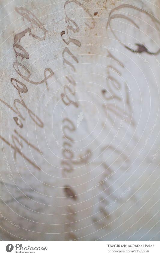 Vintage Kunst Kunstwerk alt ästhetisch retro Schriftzeichen Handschrift Verlauf verblasst veraltet Strukturen & Formen vergilbt gräulich füllfeder Brief