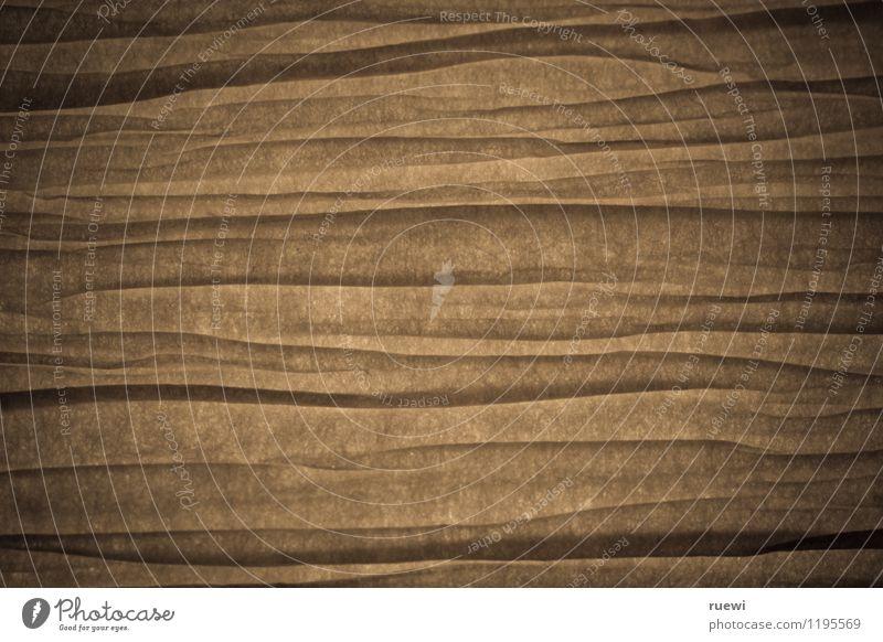Falten Lampe Papier dünn braun schwarz Faltenwurf Linie durchsichtig abstrakt leuchten porös einfach Nahaufnahme Farbfoto Gedeckte Farben Innenaufnahme Muster