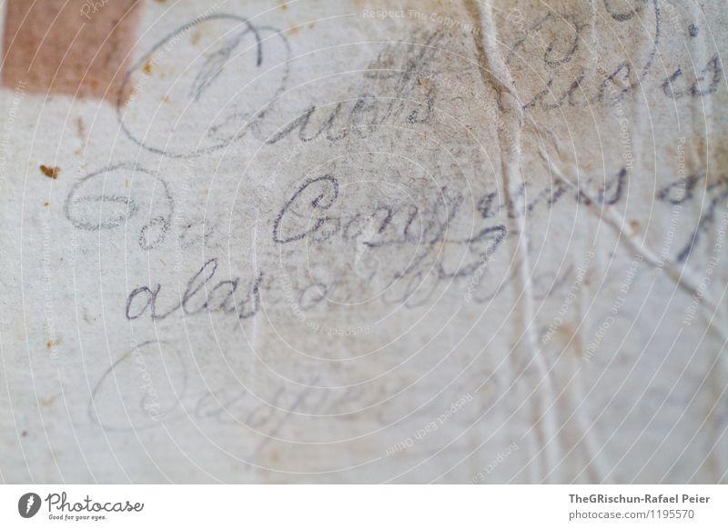 Retro Künstler alt braun gold schwarz weiß Fleck Handschrift schreiben Brief Verlauf Strukturen & Formen Riss retro antik schick Bleistift altehrwürdig