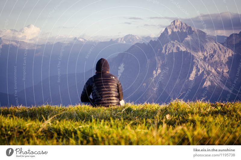 Hmmmmmmmmmm.... Landschaft Berge u. Gebirge Umwelt Glück maskulin Zufriedenheit Alpen
