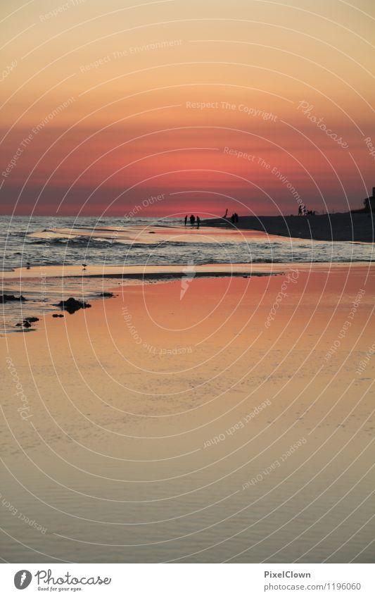 Urlaubsfeeling Natur Ferien & Urlaub & Reisen schön Sommer Meer Landschaft Strand Liebe Küste Lifestyle träumen orange Tourismus Wellen ästhetisch Romantik