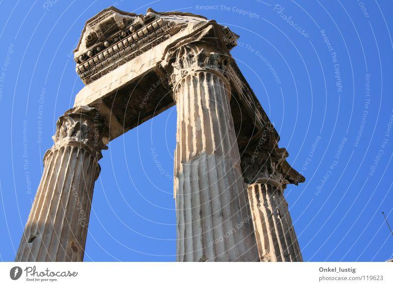 Pillars of the Sky Rom Forum antik Vergänglichkeit historisch Säule Himmel alt Vergangenheit
