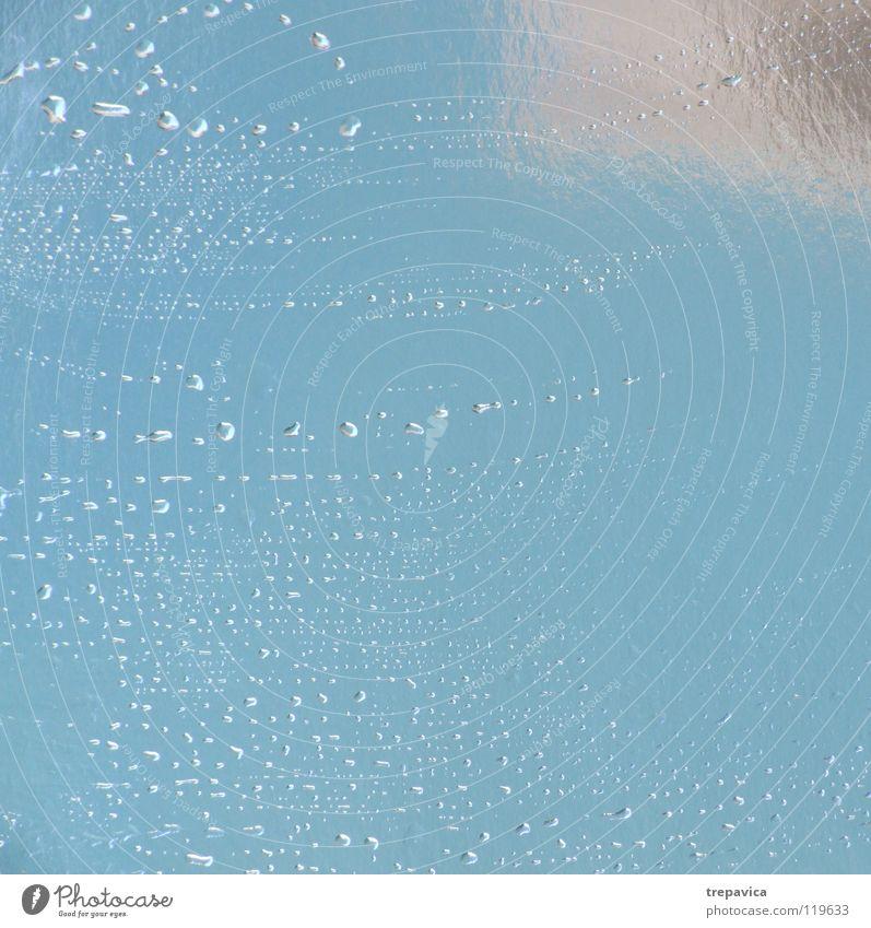 wasser Wasser blau kalt Regen Hintergrundbild Wetter Wassertropfen nass frisch Spiegel silber Erfrischung