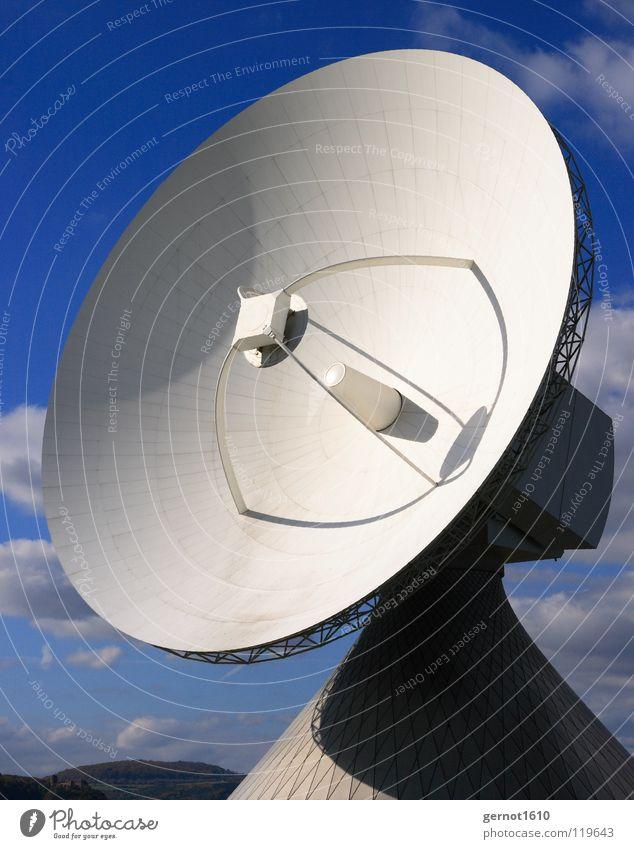 Contact senden Sendgericht hören live Datenübertragung Suche finden Satellitenantenne Fernsehen Radioteleskop Teleskop High-Tech Funktechnik Wissenschaften