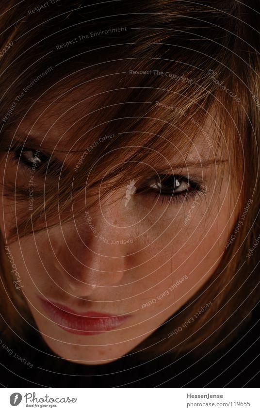 Person 5 Porträt Religion & Glaube Hoffnung Lippen Haarsträhne Haare & Frisuren schmollen Zeit Schminken Wut Ärger Trauer Verzweiflung schön Gesicht Auge Nase
