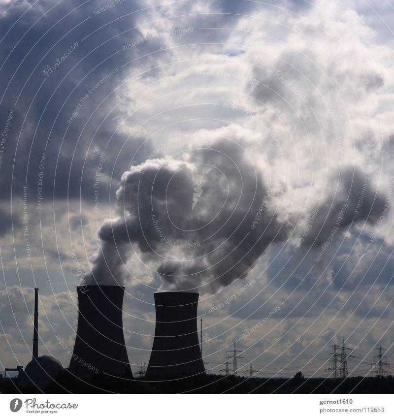 AKW Wolken Umwelt Landschaft Wärme Energiewirtschaft Zukunft Industrie Technik & Technologie Wissenschaften Strahlung Foyer Desaster Umweltverschmutzung Wasserdampf Entwicklung Fortschritt