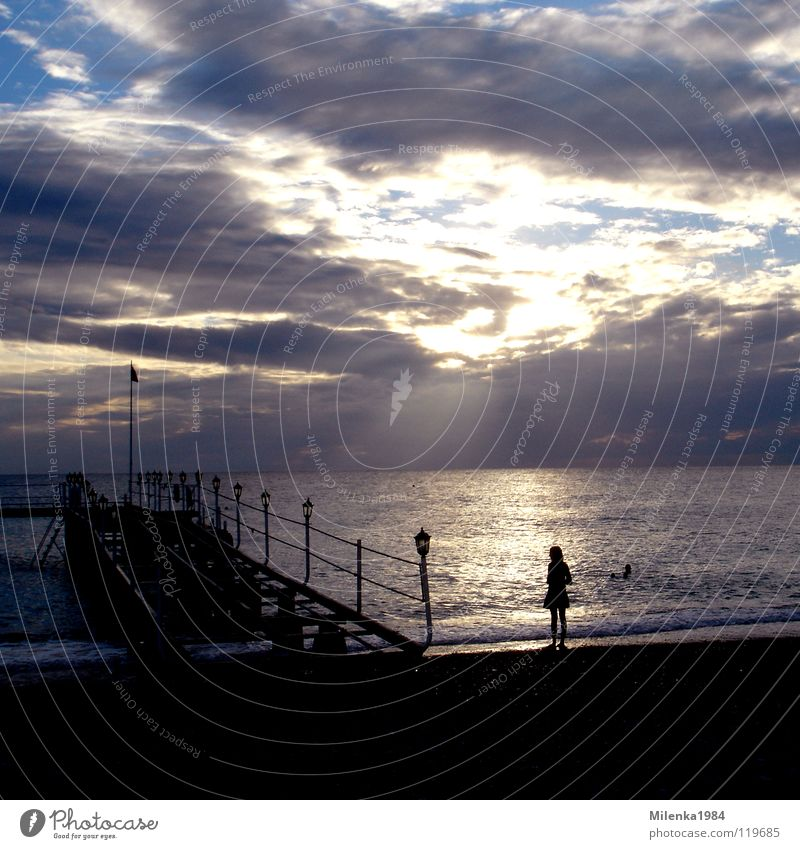 my favourite dream Wasser Himmel Meer Sommer Strand Ferien & Urlaub & Reisen Küste Brücke Romantik Kitsch Steg