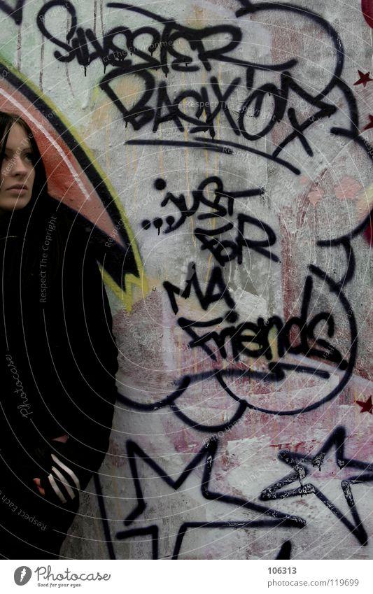 STERNE Mensch Frau Jugendliche Stadt schön schwarz Graffiti feminin Mauer Kunst Design authentisch Zukunft Kultur Stern (Symbol) Hoffnung