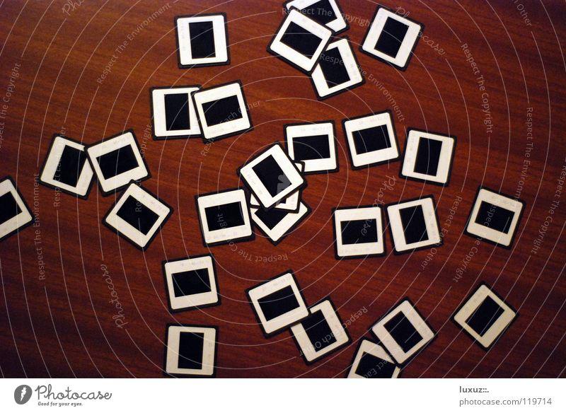 Buenos días Fotografie mehrere Suche Netzwerk Bild Bildung Kreativität Medien analog Reihe chaotisch Sammlung verbinden Vogelperspektive sortieren