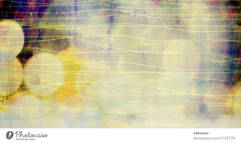 abstrakt Kunst Kunstwerk ästhetisch retro weiß Hintergrundbild Textfreiraum für unscharf Rand Rahmen Lichtpunkt Punkt Verlauf Farbverlauf knallig Farbfoto