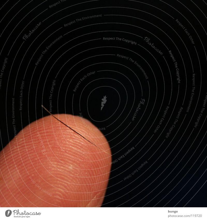 Wunschlos glücklich Mann Haare & Frisuren klein Haut Finger fein Wimpern Zeigefinger Fingerabdruck Fingerkuppe Härchen ausfallen