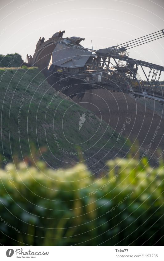 tage BAU II Energiewirtschaft Kraft ästhetisch Technik & Technologie bizarr Werkzeug Maschine Braunkohlentagebau Baumaschine Kohlekraftwerk Garzweiler