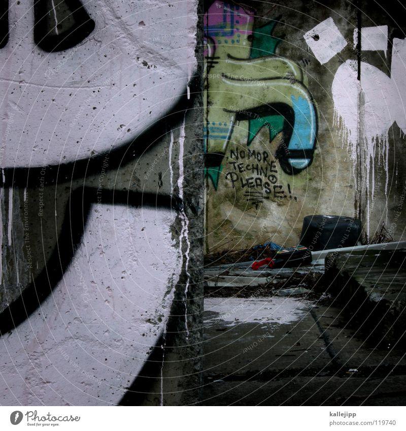 schlag/wörter Stadt Farbe Straße Graffiti Wand Mauer Kunst Regen rosa Beton frisch Wassertropfen Ecke Fluss Müll Flüssigkeit