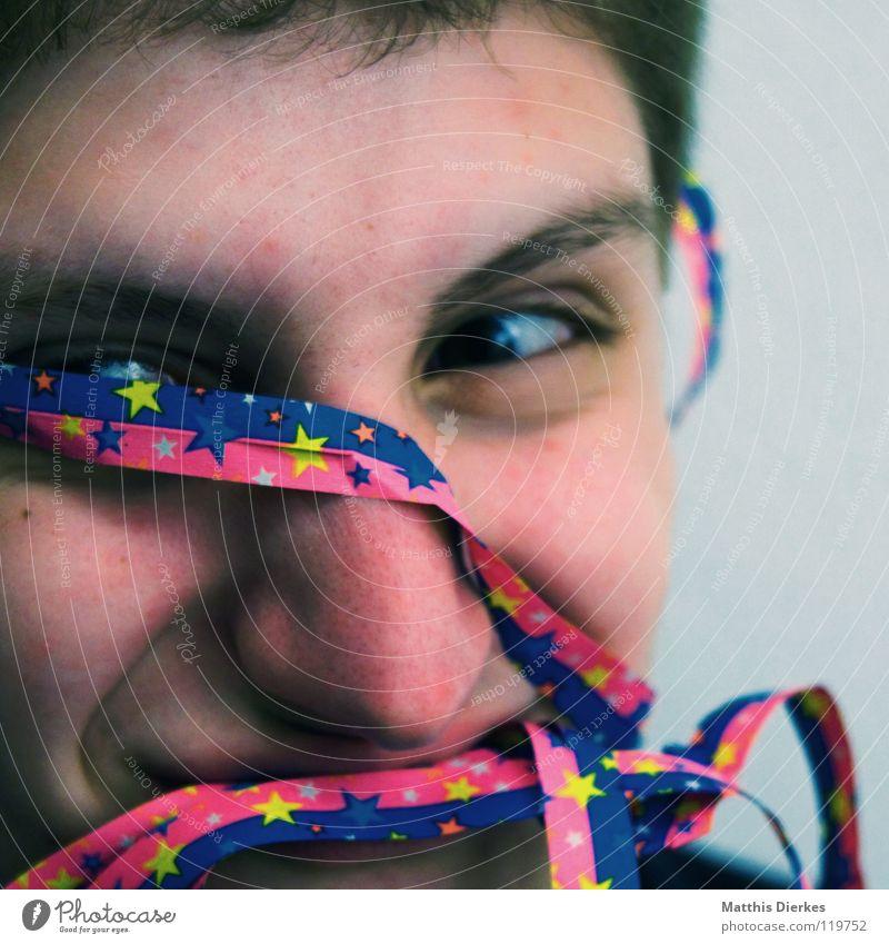 Helau Freude Gesicht Auge lachen Glück lustig Party Feste & Feiern Ernährung Geburtstag Mund Nase Fröhlichkeit Dekoration & Verzierung Stern (Symbol) Maske