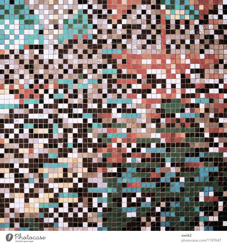 Zufallsprinzip Design Mauer Wand retro viele verrückt wild blau mehrfarbig rot schwarz türkis weiß rosa Dekoration & Verzierung Wandmalereien Mosaik Quadrat
