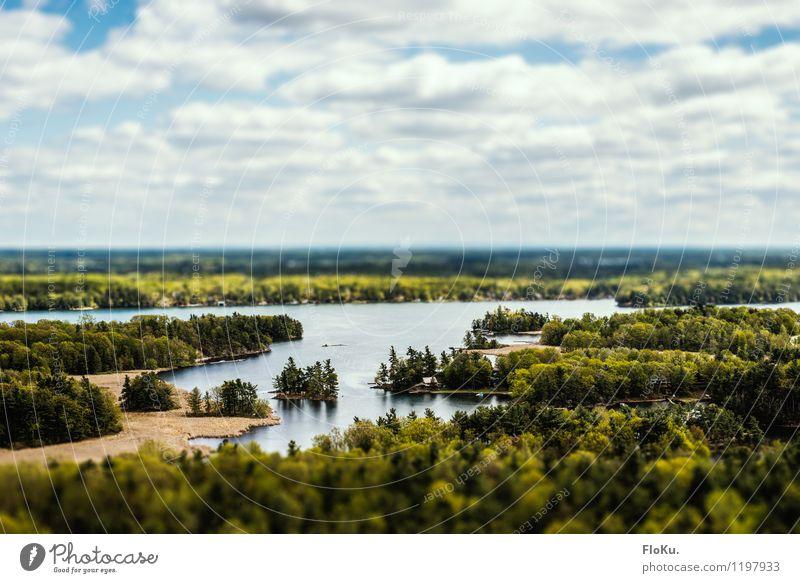 Sankt Lorenz Strom Himmel Natur Ferien & Urlaub & Reisen blau grün Sommer Wasser Landschaft Wolken Ferne Wald Umwelt natürlich Freiheit See Horizont
