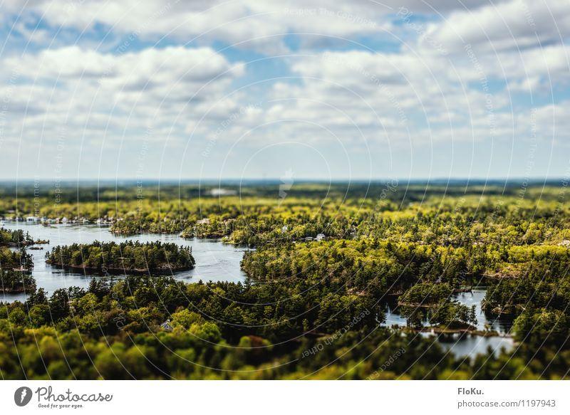 Thousand Islands Himmel Natur Ferien & Urlaub & Reisen grün Sommer Landschaft Wolken Ferne Wald Umwelt natürlich Küste See Stimmung Horizont Tourismus