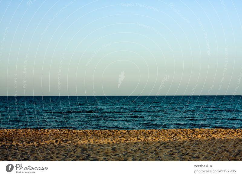 Romantischer Horizont Ferien & Urlaub & Reisen Wasser Meer Landschaft ruhig Ferne Strand Reisefotografie Sand Tourismus Wellen Textfreiraum leer Sehnsucht