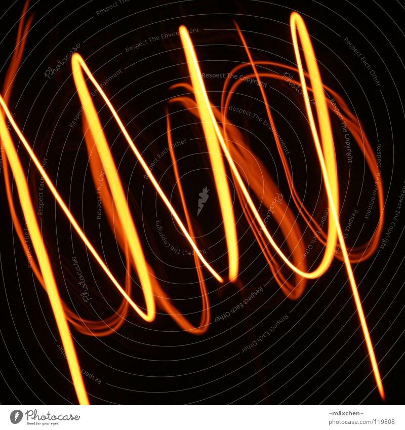 Spirale, die Zweite weiß rot gelb Lampe Wege & Pfade Zusammensein orange Wellen Brand Feuer Kreis Technik & Technologie Spuren Tunnel Draht durcheinander