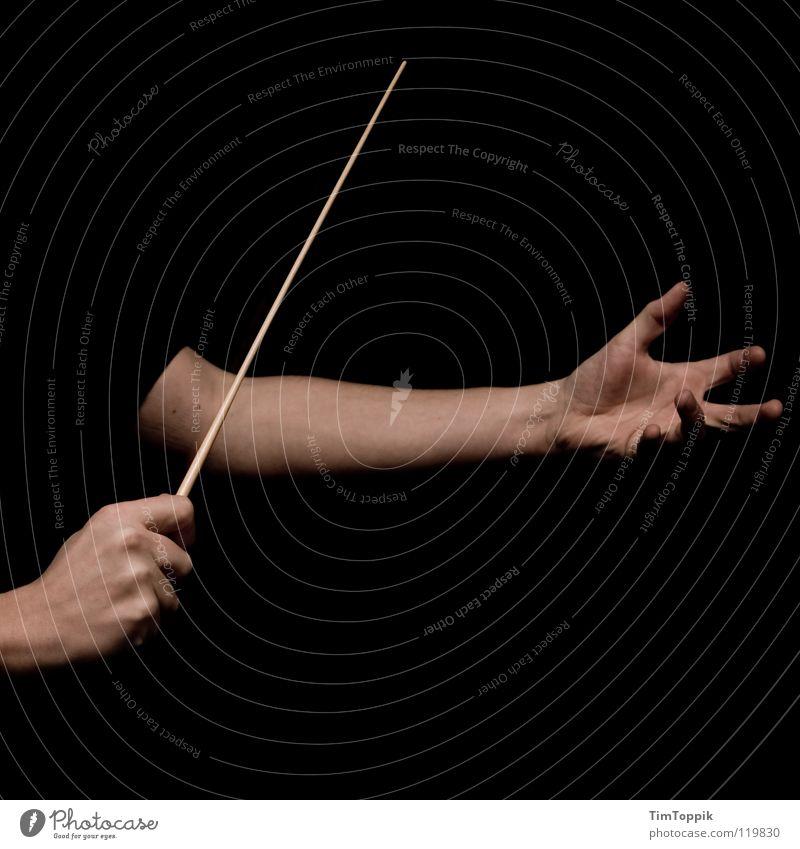 Musst du mit Ausdruck machen Musik Sicherheit Macht Konzert führen Leitung gestikulieren Vorgesetzter Oper Management Orchester Dirigent Taktstock