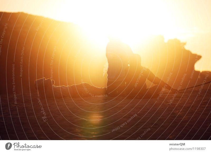 Pure Light. Ferien & Urlaub & Reisen Jugendliche Sommer Sonne Erholung Junger Mann Strand Kunst liegen Zufriedenheit Idylle sitzen ästhetisch Abenteuer