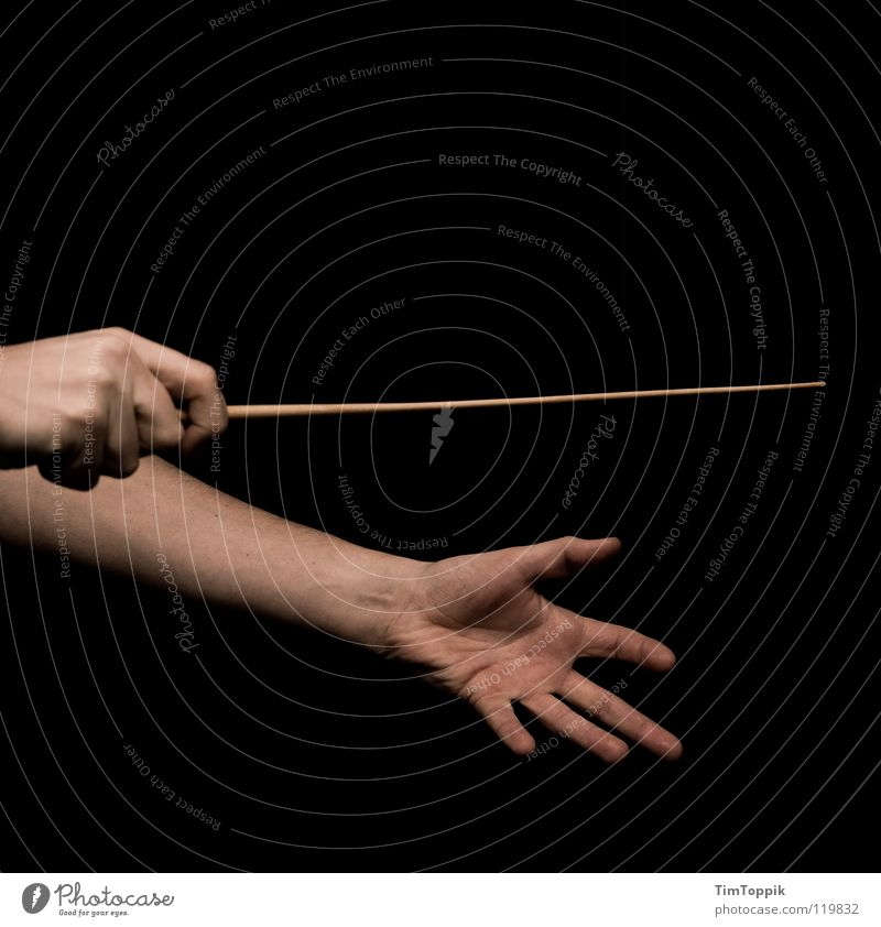 Musst du anfangen Dirigent Taktstock Musik Orchester Leitung führen Macht Vorgesetzter planen lenken Symphonie Kommunizieren Konzert Erscheinung