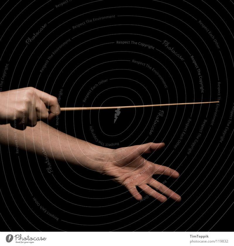 Musst du anfangen Musik planen Macht Kommunizieren Klassik Konzert führen Leitung Vorgesetzter Erscheinung Orchester lenken Dirigent Symphonie Taktstock