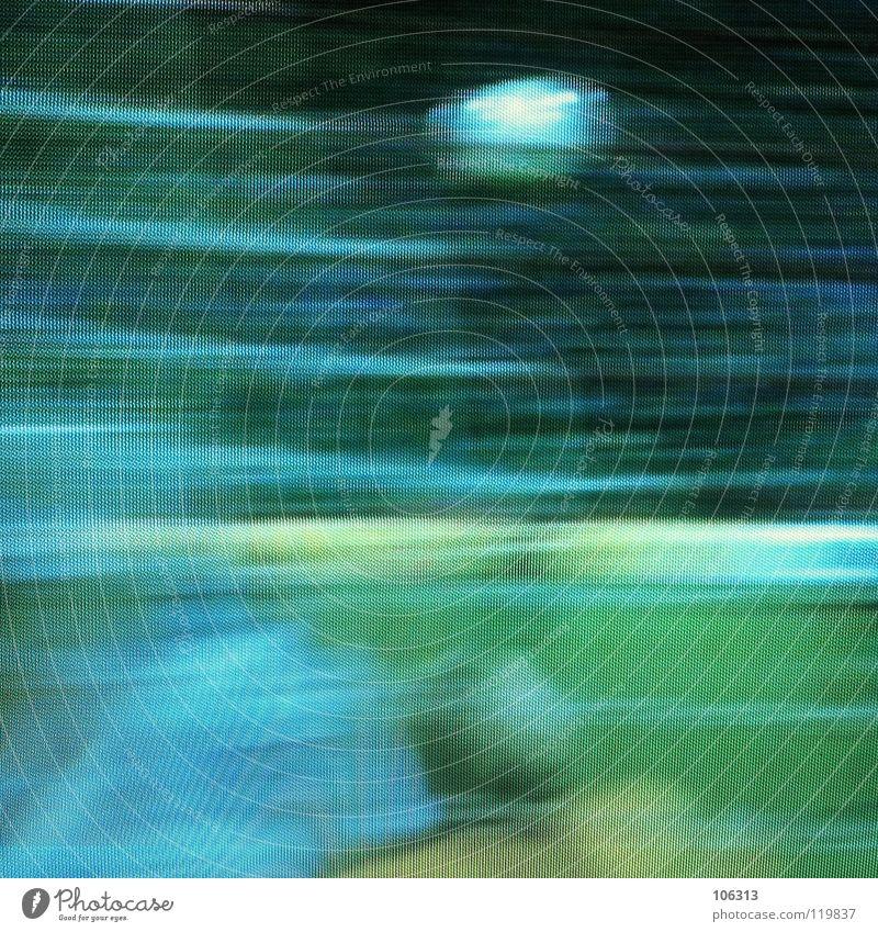 UND UND UND ... TOOOOR! grün blau rot Spielen Fußball Kunst Rasen Fernseher Fernsehen Netz stoppen Punkt außergewöhnlich Medien festhalten Tor