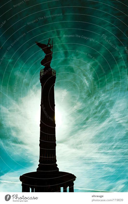 DieSäule Himmel Stadt Ferien & Urlaub & Reisen Wolken Berlin Angst Kunst Stern Deutschland gold groß Statue Denkmal historisch Panik Hauptstadt