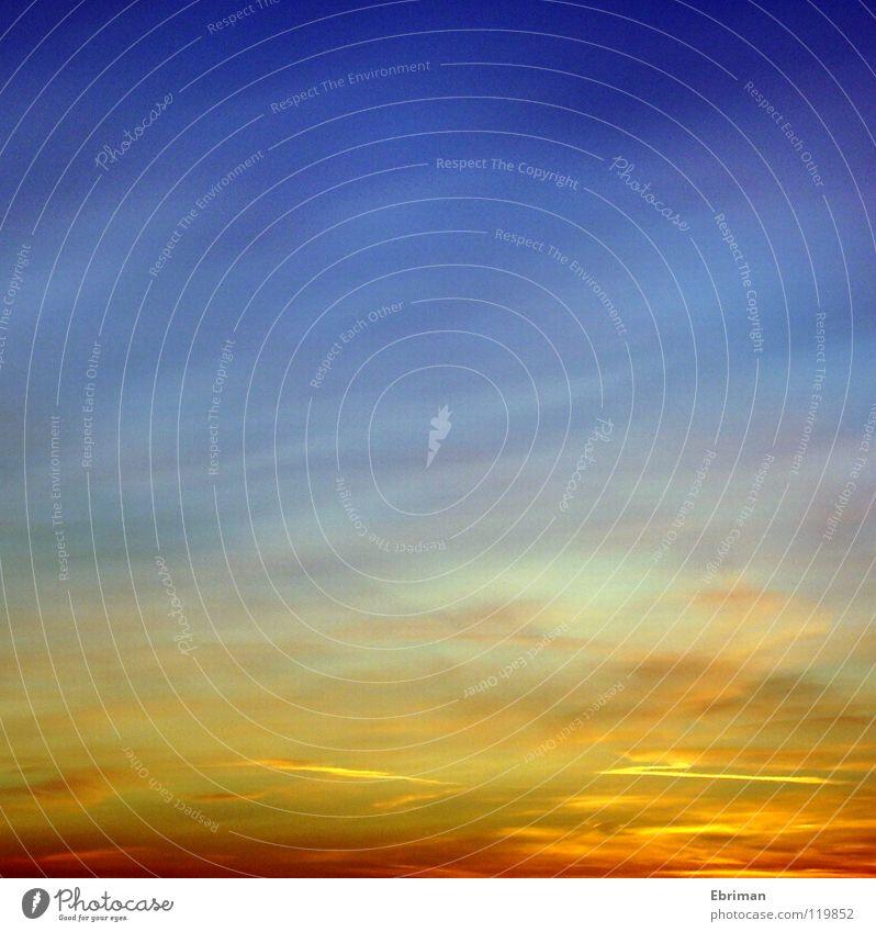 Aquarell² Natur Himmel Sonne blau rot Winter Wolken gelb Farbe Freiheit Luft Stimmung orange rosa gold Horizont