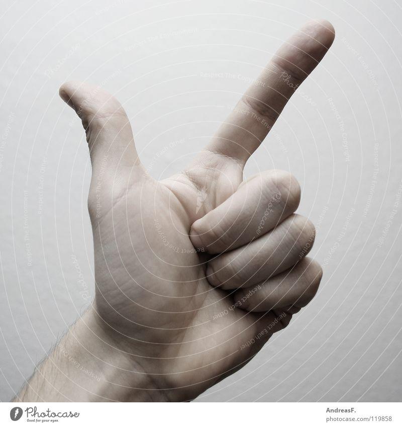 Zwei. Hand 2 Finger 3 Ziffern & Zahlen Zeichen Konzentration Symbole & Metaphern Daumen rechnen zeigen gestikulieren zählen Mathematik Gebärdensprache